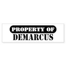 Property of Demarcus Bumper Bumper Sticker