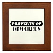 Property of Demarcus Framed Tile