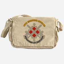 DUI-18th Engineer Brigade with text Messenger Bag