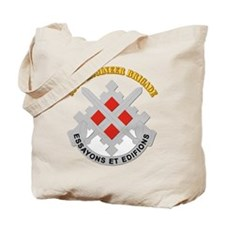 DUI-18th Engineer Brigade with text Tote Bag