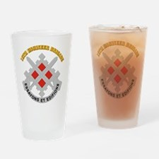 DUI-18th Engineer Brigade with text Drinking Glass