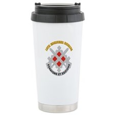 DUI-18th Engineer Brigade with text Travel Mug