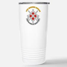 DUI-18th Engineer Brigade with text Travel Mug