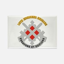 DUI-18th Engineer Brigade with text Rectangle Magn