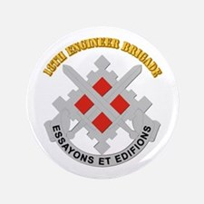 """DUI-18th Engineer Brigade with text 3.5"""" Button"""