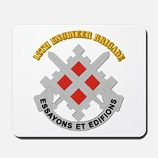 DUI-18th Engineer Brigade with text Mousepad