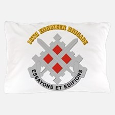 DUI-18th Engineer Brigade with text Pillow Case