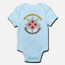 DUI-18th Engineer Brigade with text Infant Bodysui
