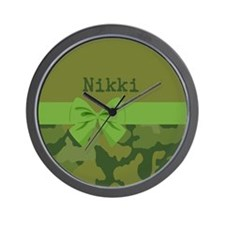 Lavish Camouflage with Ribbon Wall Clock