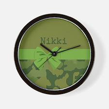 Lavish Camouflage with Ribbon Wall Clock