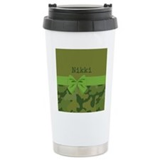 Lavish Camouflage with Ribbon Travel Mug
