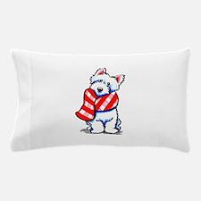 Westie Plaid Scarf Pillow Case