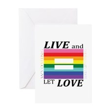 Wyoming live love blk font Greeting Cards