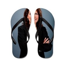 Michele Bachmann Queen of the Tea Party Flip Flops