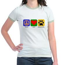 Peace Love Weimaraner T-Shirt