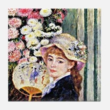 Renoir - Girl with Fan Tile Coaster