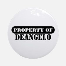 Property of Deangelo Ornament (Round)