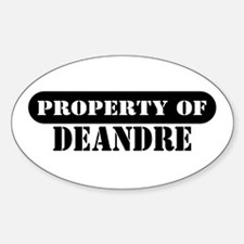 Property of Deandre Oval Decal