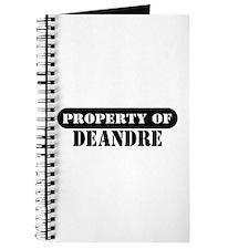 Property of Deandre Journal