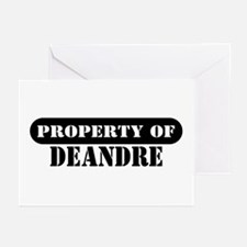 Property of Deandre Greeting Cards (Pk of 10)
