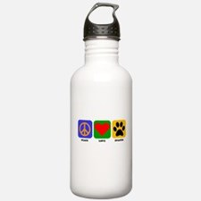 Peace Love Staffie Water Bottle
