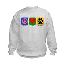 Peace Love Staffie Sweatshirt