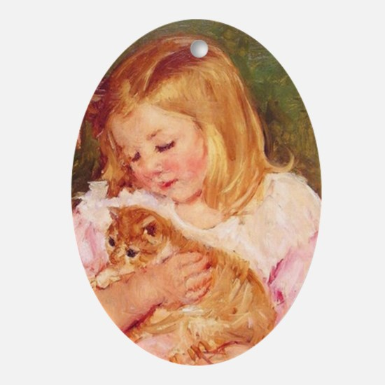 Marie Cassatt's Ornament (Oval)