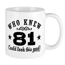 Funny 81st Birthday Small Mugs
