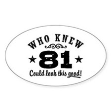 Funny 81st Birthday Decal