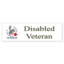 Disabled Veteran Bumper Bumper Sticker