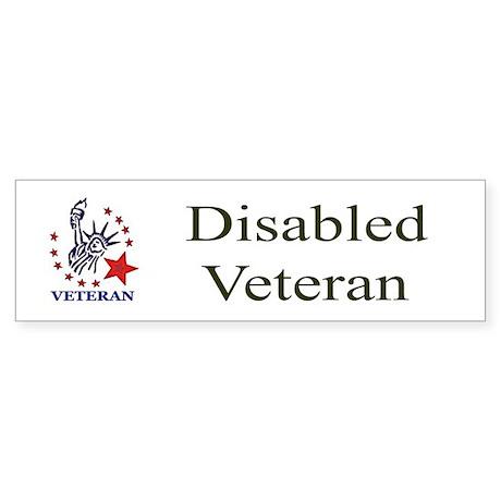 Disabled Veteran Bumper Sticker