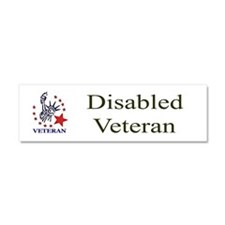 Disabled veteran Car Magnet 10 x 3