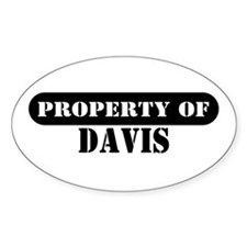 Property of Davis Oval Decal
