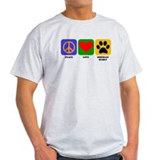 Peace Love Siberian Husky T-Shirt