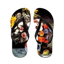 Renoir - Mixed Flowers in an Earthenwar Flip Flops