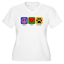 Peace Love Scottie Plus Size T-Shirt