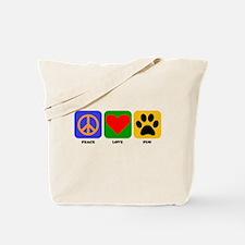 Peace Love Pug Tote Bag