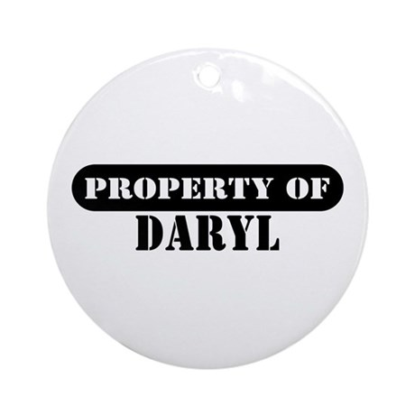 Property of Daryl Ornament (Round)