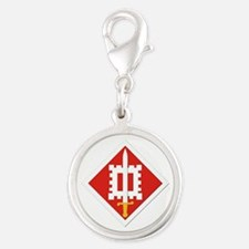 SSI-18th Engineer Brigade Silver Round Charm