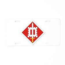 SSI-18th Engineer Brigade Aluminum License Plate