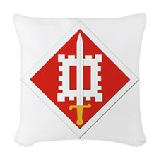 SSI-18th Engineer Brigade Woven Throw Pillow