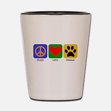 Peace Love Poodle Shot Glass