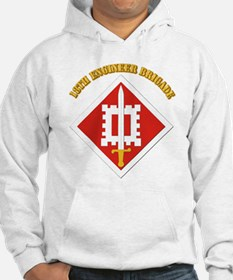 SSI-18th Engineer Brigade with text Hoodie