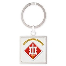SSI-18th Engineer Brigade with text Square Keychai
