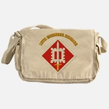 SSI-18th Engineer Brigade with text Messenger Bag