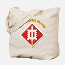 SSI-18th Engineer Brigade with text Tote Bag