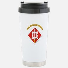 SSI-18th Engineer Brigade with text Travel Mug