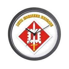 SSI-18th Engineer Brigade with text Wall Clock