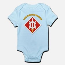 SSI-18th Engineer Brigade with text Infant Bodysui