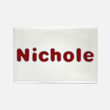 Nichole Santa Fur Rectangle Magnet